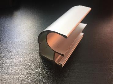 Ручка закрытая С асимметрия анод матовый 5400 мм.