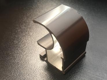 Ручка закрытая С асимметрия анод полированный 5400 мм.