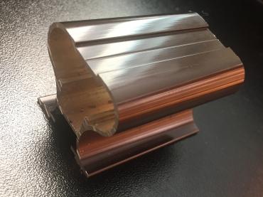 Ручка открытая Н симметрия анод полированный 5400 мм.